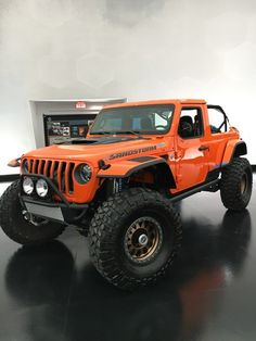 FCA's most storied, and most profitable brand manages to customize a handful of its production models to show off each year at the Moab Easter Jeep Safari. Jeep Concept, Concept Cars, Jeep Truck, Chevy Trucks, Orange Jeep, Easter Jeep Safari, Jeep Wave, The Magnificent Seven, Monster Trucks