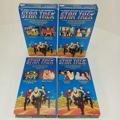 Star Trek TOS Animated Series Adventures Cartoons VHS 1989 Lot of 4 Vol 2 3 4 6
