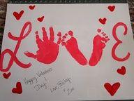 #Valentijn - LOVE #kinderhandjes en voetjes..