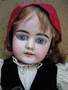 Grande Armand Marseille 1894 Taille 15 costume du Petit Chaperon rouge 75cm | eBay