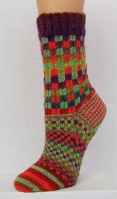 Mini Mochi - Maizy Melange Socks pattern - Crystal Palace Yarns - free knit sock pattern (not for the feint-hearted! Crochet Socks, Knit Or Crochet, Knitting Socks, Free Knitting, Knitting Patterns, Knit Socks, Slipper Socks, Slippers, Couture Cuir