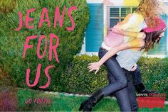 """""""Curve ID"""" campaign - print ad: """"Jeans For Us."""""""