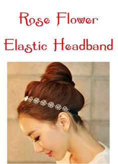 Rose Flower Elastic Headband: $1.38 + FREE Shipping! at thefrugalgirls.com #headband