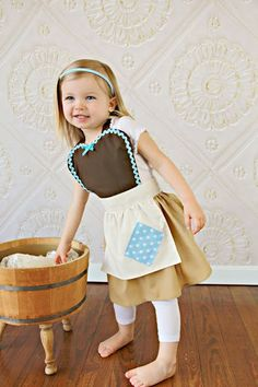 CINDERELLA Work Apron for kids cute girls by loverdoversclothing