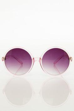 Round Sunglasses in Pink / ShopSosie #pink #sunglasses #accessories #essentials #shopsosie