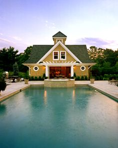 Beautiful pool house with cupola
