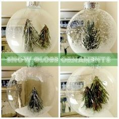 Winter Wonderland Snow Globe Ornaments | Create several different winter scenes inside these DIY ball ornaments.