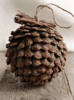 """Pine Cone Ball with Twigs (4.5"""" wide)"""