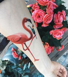 Sasha Unisex flamingo tattoo