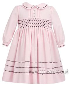 Sarah Louise Girls Pink & Burgundy Dress | Baby Clothes | Winter 2013