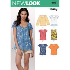 New Look Easy Womens Pullover Tops 6891 (10 12 14 16 18 20 22)