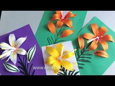 Paper Flowers Diy, Origami Flowers, Felt Flowers, Flower Crafts, Spring Crafts For Kids, Art For Kids, Nail Polish Flowers, Easter Art, Flower Template
