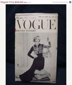 SALE 1950s Vogue Palazzo Hostess Pants Sewing Pattern by kinseysue, $22.50