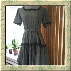 VINTAGE DOROTHY DRESS I can't describe it! Gingham fabric. Pictures say it all. Tiny iron stain from hanger doesn't show when worn. If Dorothy wore it, so can you! Circa '1950's! Ask for measurements if interested! Vintage Dresses