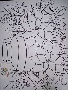 Colouring Pages, Adult Coloring Pages, Coloring Sheets, Coloring Books, Simple Embroidery, Paper Embroidery, Embroidery Patterns, Christmas Pictures To Color, Punch Needle Patterns