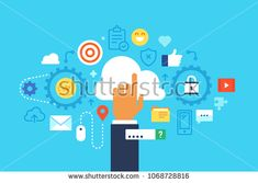 Cloud Computing. Flat design modern vector illustration concept.