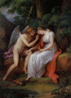 Amore e Psiche (1792), Angelika Kauffmann #art #amoreepsiche #enicultura