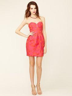 Alexia Admor Jacquard Strapless Dress