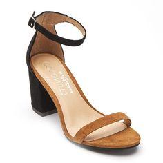 COCONUTS BY MATISSE - DINAH - NOIR/TAN Matisse, Peep Toe, Sandals, Heels, Coconuts, Fashion, Heeled Sandals, Black People, Top