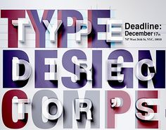 """Check out new work on my @Behance portfolio: """"TDC-Type Design Competition Poster"""" http://be.net/gallery/47988289/TDC-Type-Design-Competition-Poster"""