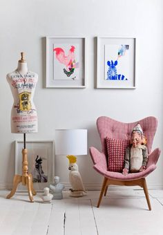 Pink chair and colour pops - fenton&fenton Prahran