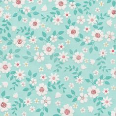 Flower Backgrounds, Wallpaper Backgrounds, Turquoise Background, Fabric Paper, Cute Pattern, Scrapbook Paper, Scrapbooking, Flower Wall, Background Patterns