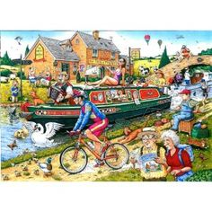 Ravensburger Best Of British By The Canal Puzzle (1000 Pieces)
