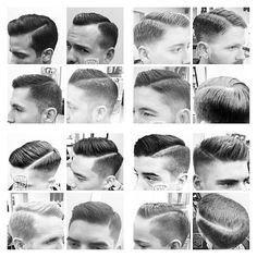 Mens vintage haircut
