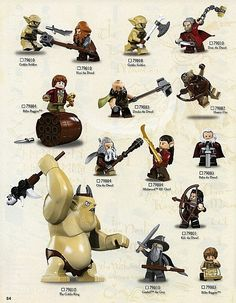 LEGO The Hobbit Characters Poster 2