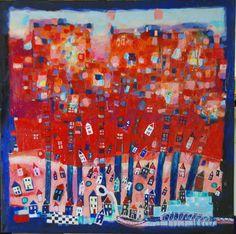 "Saatchi Online Artist Daniel Blignaut; Painting, ""Village in Fall """