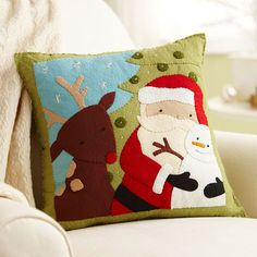 Santa & Friends Pillow. Just for the idea, because, as is often the case,  BHG links are either completely missing or misdirected. Can't find any way to get to the tutorial for this and not going to waste more time.