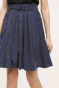 Dotted Swing Skirt