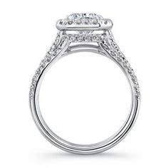 Radiant Cut & Round Brilliant 3.00 ctw VS2 Clarity, I Color Diamond Platinum Ring