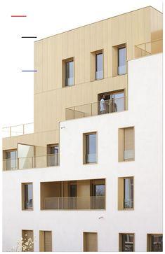 Plans Architecture, Concept Architecture, Residential Architecture, Contemporary Architecture, Architecture Details, Interior Architecture, Minimalist Architecture, Habitat Collectif, Facade Design
