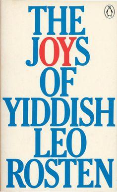 The joys of Yiddish cover by David Pelham 1988