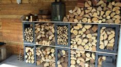Indoor Firewood Rack, Firewood Storage, Custom Homes, Backyard, Interior, Crafts, Outdoor, Mad, Gardening