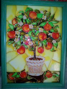 Tatiana S. Апельсиновое дерево для удачи. Витражная роспись 15/20см.