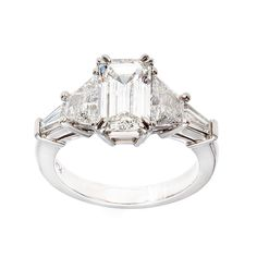 Art Deco  1.78ct Emerald Cut Diamond Ring | From a unique collection of vintage engagement rings at http://www.1stdibs.com/jewelry/rings/engagement-rings/