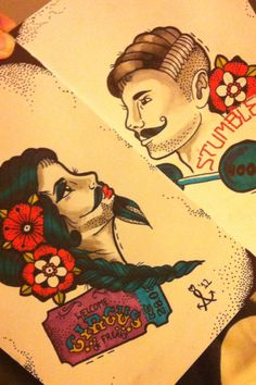 The Bearded Lady and Strong Man. The bearded lady would make a sweet leg piece or half sleeve