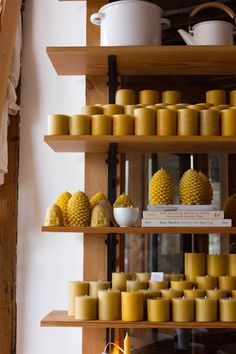 The Foundry Home Goods | Minneapolis - HOME=bees wax candles of all sizes!!!!!