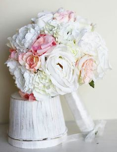 Pretty white and pink bouquet