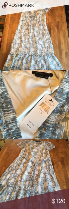 BCBG Maxazria dress Medium, NWT, silk-chiffon dress. Color: Frost com. Perfect for summertime! BCBGMaxAzria Dresses