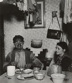 Northumbrian Miner at His Evening Meal, 1937, Bill Brandt