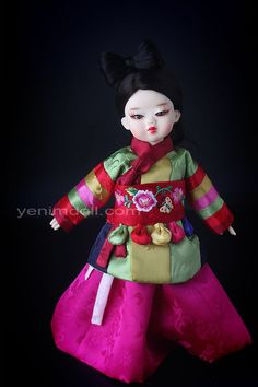 korea bjd doll  yenimdoll  doll name is danyi yenimdoll's usd doll (26cm)  korea traditional dress hanbok 오방장두루마기와 돌띠  http://www.yenimdoll.com