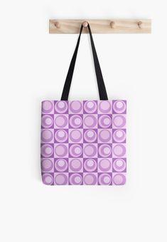 Lavender Dreams - Circle Geometric Pattern  Tote Bag by ilexdesigns 721185dfb453b