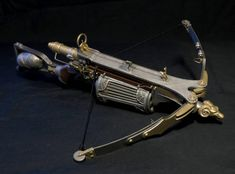 Van Helsing crossbow miniature by darth-biomech Arte Steampunk, Steampunk Weapons, Sci Fi Weapons, Weapon Concept Art, Armor Concept, Weapons Guns, Fantasy Weapons, Survival Weapons, Crossbow Targets