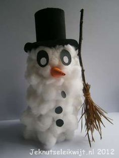 #knutselen met #kinderen tijdens #kerst: #DIY Sneeuwpop wc rol