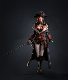 Fantasy World, Fantasy Art, Dnd Art, Pirate Woman, 3d Character, Zbrush, Fantasy Characters, Elves, Pirates