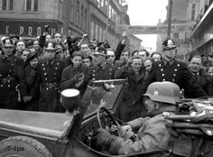 Nazi troops enter Czechoslovakia on March 15, 1939