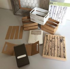 wooden crates, Stampin' Up! - Hardwood stamp